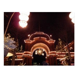 Tivoliの入口Christmastimeコペンハーゲンデンマーク ポストカード
