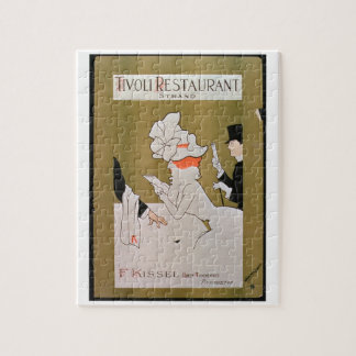 「Tivoliレストラン、繊維」の、ロンドン(色のlitho) ジグソーパズル