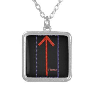 TiwazのRune シルバープレートネックレス