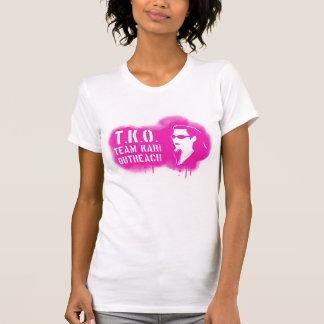 TKO -ピンクのステンシル Tシャツ