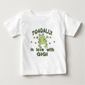TOADALLY愛Gigiのカエル ベビーTシャツ