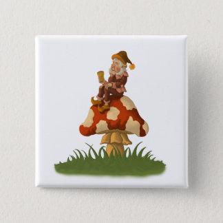 toadstoolの格言ボタン 5.1cm 正方形バッジ