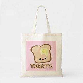 Toastyかわいい! トーストのトートバック トートバッグ