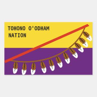 Tohono O'odham 長方形シール