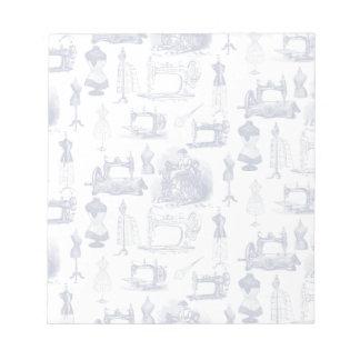 Toileを縫うヴィンテージ メモ帳