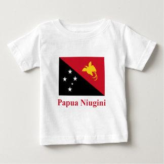 Tok Pisinの名前のパプアニューギニアの旗 ベビーTシャツ
