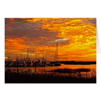 Tolersの入江の日没 カード