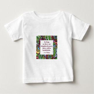 Tolstoyの引用文 ベビーTシャツ