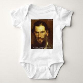 "Tolstoyの""変更あなた自身""の知恵の引用文のギフト及びティー ベビーボディスーツ"