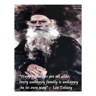 TolstoyアナKareninaの幸せな家族は同様に引用します レターヘッド