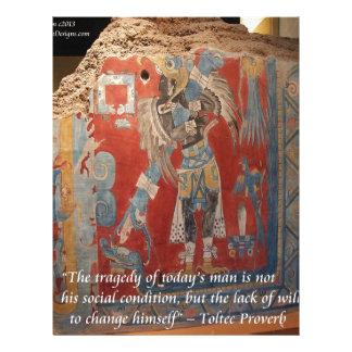 Toltec帝国グラフィック及び有名な諺 レターヘッド