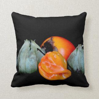 tomatilloのコショウの柿のフルーツ野菜のイメージ クッション