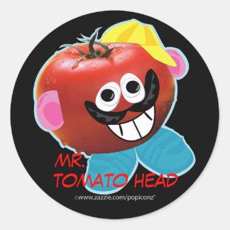 tomato head氏のユーモアのあるなパロディのステッカー ラウンドシール