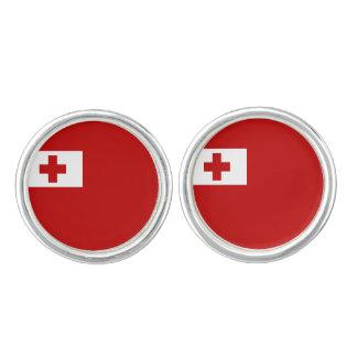 Tongan旗のカフスボタン カフボタン