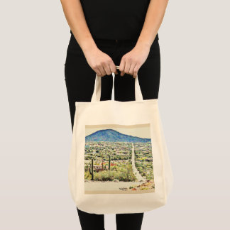 Tontosの油絵のジャンボトートバックへの道 トートバッグ