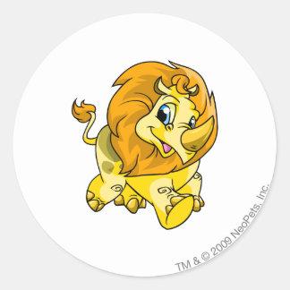 Tonuの黄色 ラウンドシール