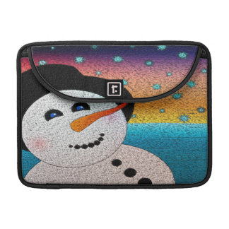 Tophatの雪だるま MacBook Proスリーブ