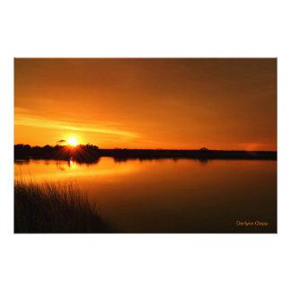 Topsailの島の健全な側面の日没 フォトプリント