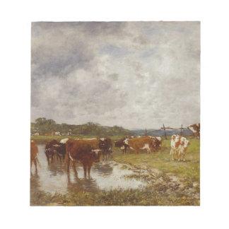 Toquesの銀行の草原の牛 ノートパッド