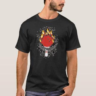 Torchwoodのボーリングのチーム(暗いプリント)ワイシャツ Tシャツ