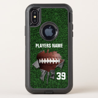 Torn Football オッターボックスディフェンダーiPhone X ケース
