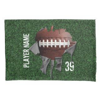 Torn Football Personalized Dark Pillowcase 枕カバー
