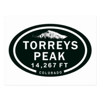 Torreysのピーク14,267 FT CO 14er山の郵便はがき ポストカード