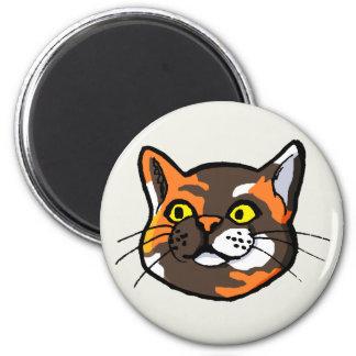 Tortoiseshell猫のスケッチの冷蔵庫用マグネット マグネット