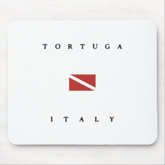 Tortugaイタリアのスキューバ飛び込みの旗 マウスパッド