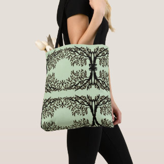 Tote Bag (ao) - Weeping Branches with Initial トートバッグ