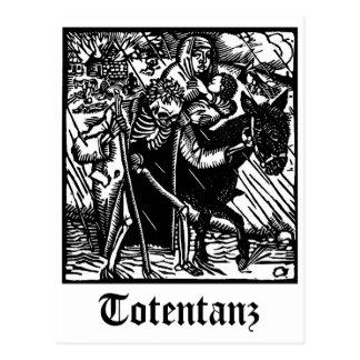 Totentanzの死は母およびBaeの郵便はがきを護衛します ポストカード