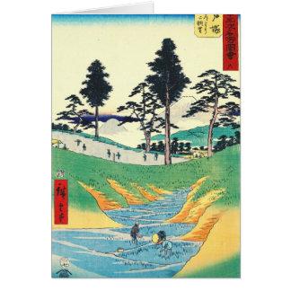 Totsukaの場所のTokaidoの道1855年 カード