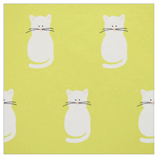 Totty猫。 猫の生地の印刷物 ファブリック