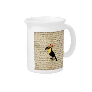 toucanおもしろいなヴィンテージ及び王冠 ピッチャー