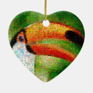 Toucanのコラージュtoucanの芸術-コラージュの芸術 セラミックオーナメント