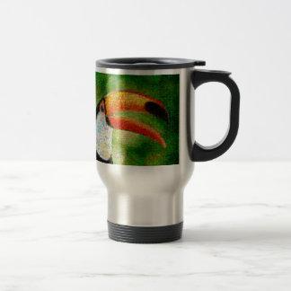 Toucanのコラージュtoucanの芸術-コラージュの芸術 トラベルマグ