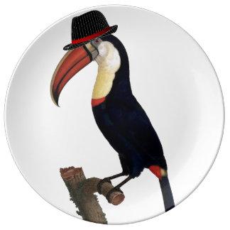 ToucanのスタイリッシュなTrilbyの帽子 磁器プレート