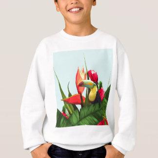 Toucanの熱帯バナナは花束を去ります スウェットシャツ