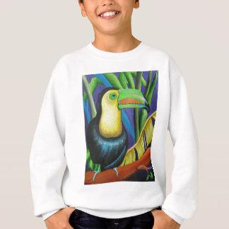 Toucanの鳥のデザイン スウェットシャツ
