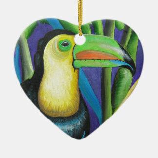 Toucanの鳥のデザイン セラミックオーナメント