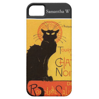 Tourneee du Chat NoirのSteinlenの黒猫のヴィンテージ iPhone SE/5/5s ケース