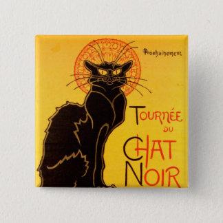 Tourneee du Chat Noir -ヴィンテージポスター 5.1cm 正方形バッジ