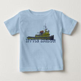 Towboatのタグボートの写実的な引くことカバー ベビーTシャツ
