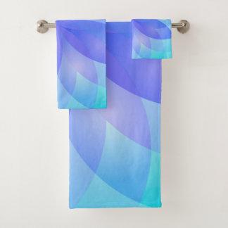 Towel Set Abstract Lotus Flower バスタオルセット