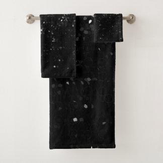 Towel Set Black Crystal Bling Strass バスタオルセット