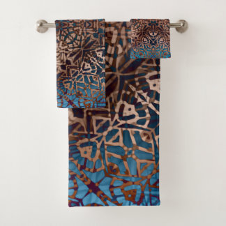 Towel Set Ethnic Tribal Pattern バスタオルセット
