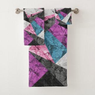 Towel Set Marble Geometric Background G438 バスタオルセット