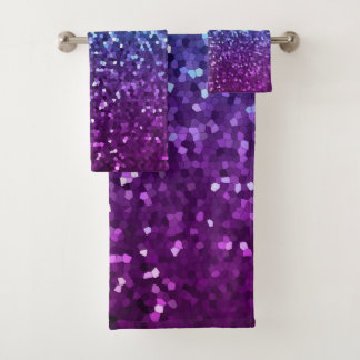 Towel Set Mosaic Sparkley Texture バスタオルセット