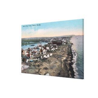 TownNome、AKの鳥瞰的な眺め キャンバスプリント