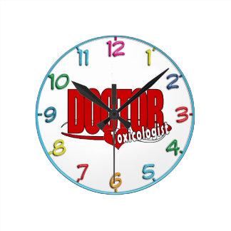 TOXICOLOGISTロゴの博士 ラウンド壁時計